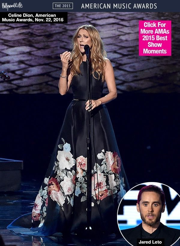 Celine Dion Gives Tear-Jerking Tribute To Paris Victims During AMAs Performance