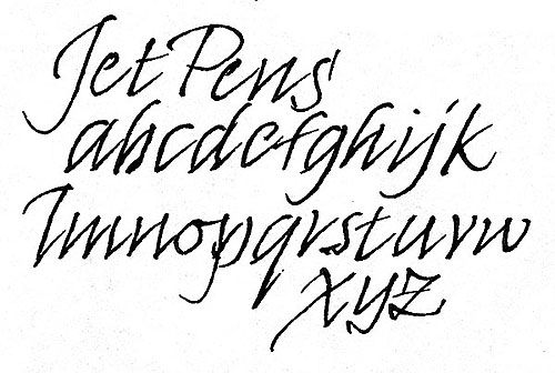 Sailor DE Brush Stroke Style Calligraphy Fountain Pen - Navy Blue - Nib Angle 40 Degrees - JetPens.com