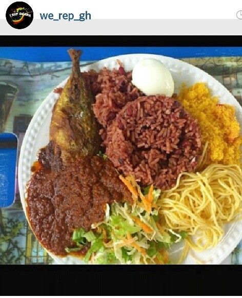 Waakye #ghanian food #smoke fish #mmmm