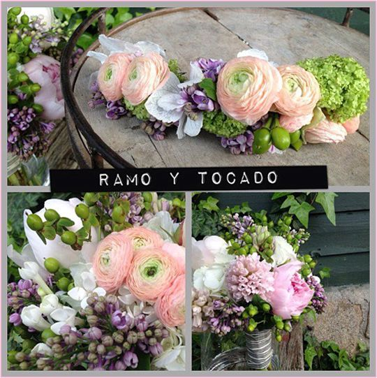 Ramo y tocado de flores naturales  72ad01e407dc
