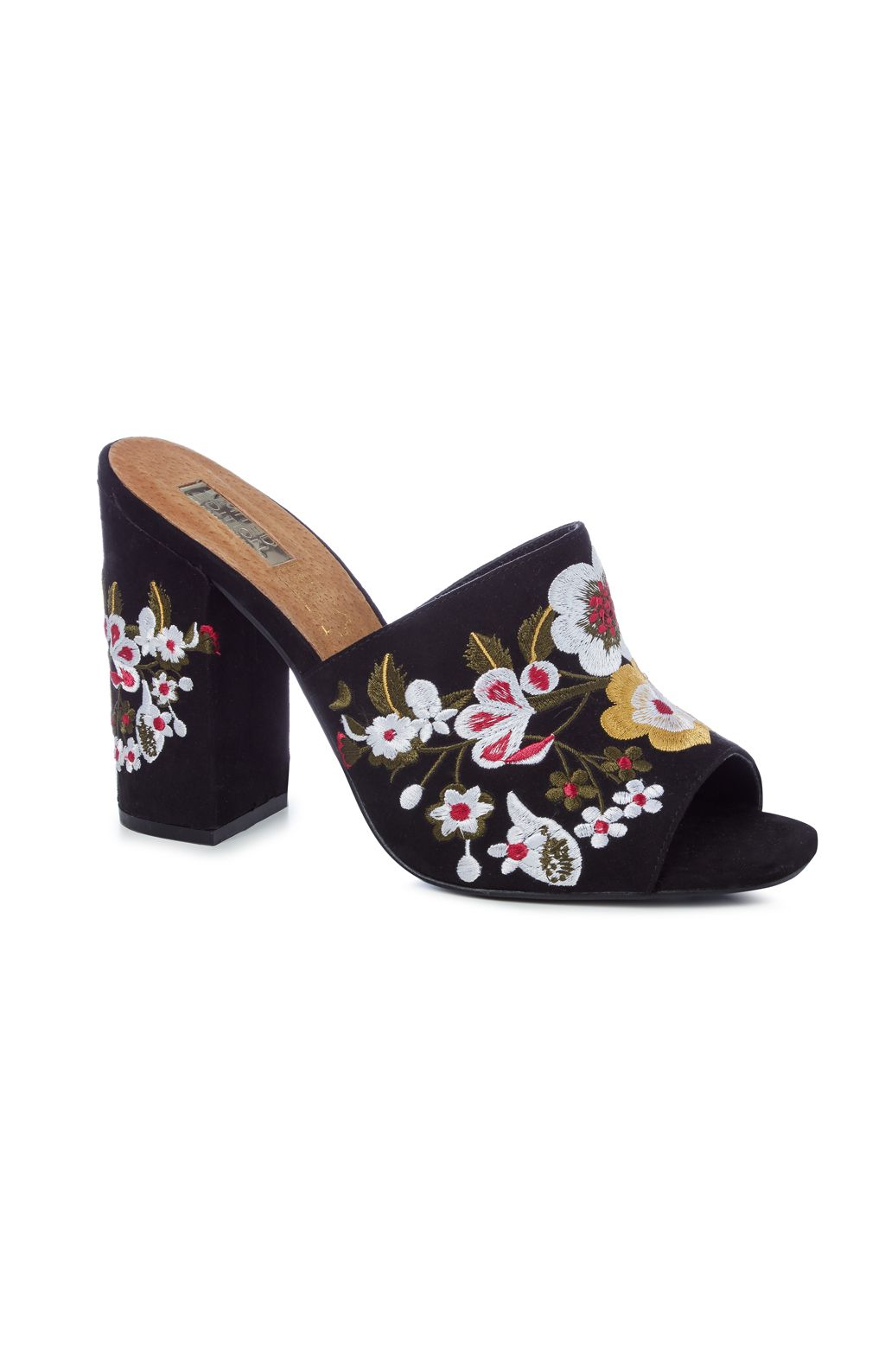 Black sandals primark - Black Floral Mules Primark Spring Summer Trends 2017