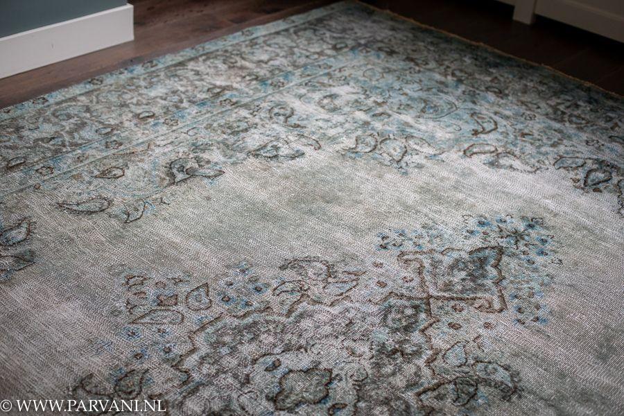 Tapijt Petrol Blauw : Parvani vintage tapijt groen blauw turquoise petrol iran