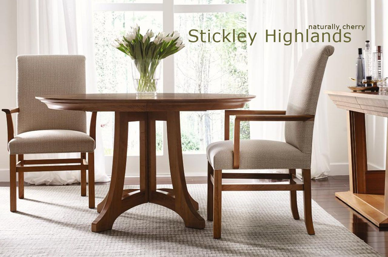 Stickley Highlands round pedestal table | Dining table ...