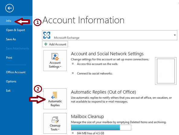 Send Automatic Out Of Office Replies From Outlook Out Of Office Message Out Of Office Email Messages
