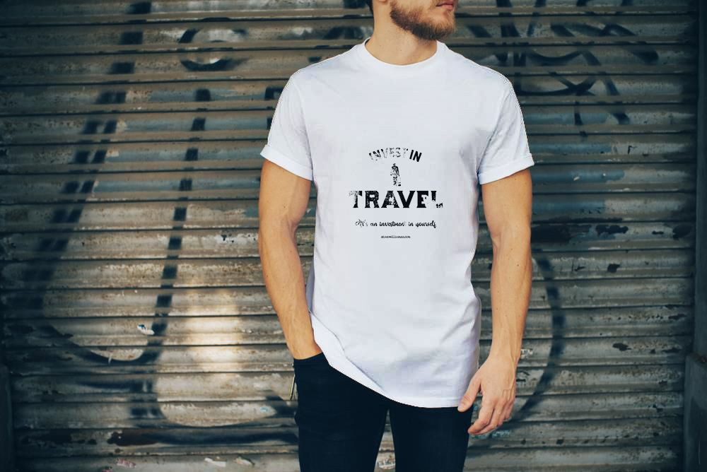 0cc26dc81 Invest in travel it s an investment in yourself t shirt with travel quote