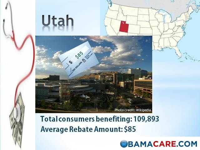 Affordable Care Act Rebate Amounts For Utah Health Medical