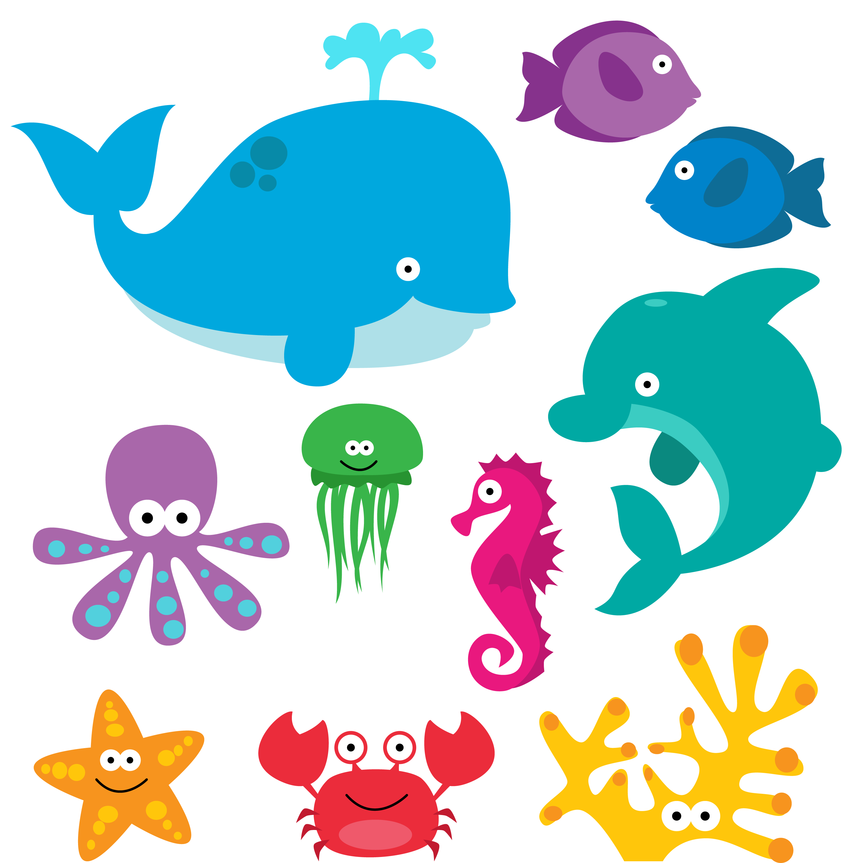 Sea Animal Clipart, Sea Animal Clip Art, Sea Creatures ...