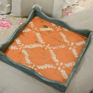 Oversized Tray- Blue and Orange