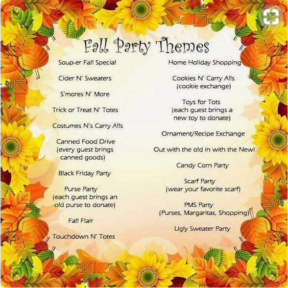 Fall Party Theme Ideas Arbonne Party Ideas - Charity ...
