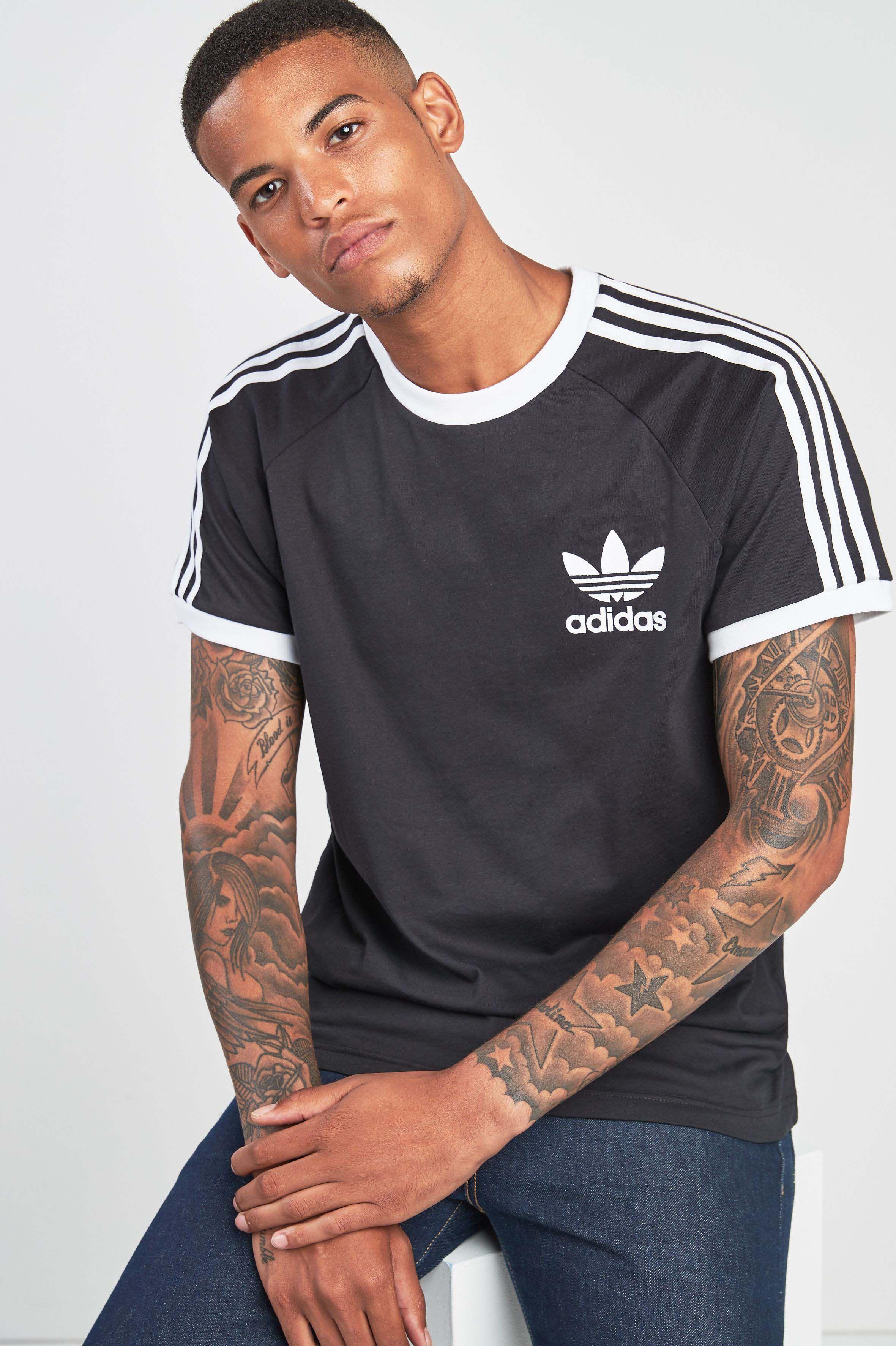 Mens adidas Originals California T Shirt Black   Adidas