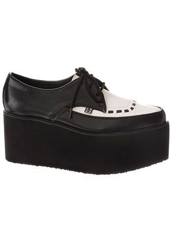 Tuxedo Stacked Platform Creepers by TUK Shoes at PLASTICLAND