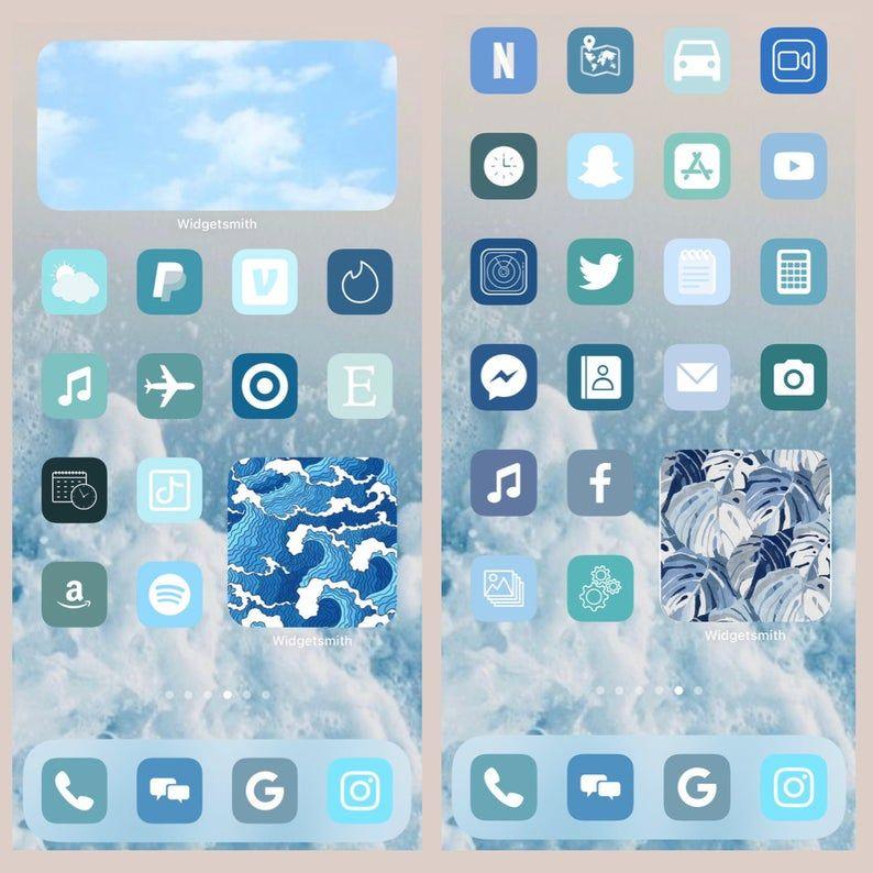 iOS 14 Icons App Covers, 200 Unique Icons, Boho Ae