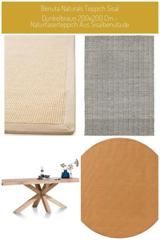 Benuta Naturals Carpet Sisal Dark Brown 200x200 Cm Natural Fiber Carpet From Sisalbenuta De In 2020 Benuta