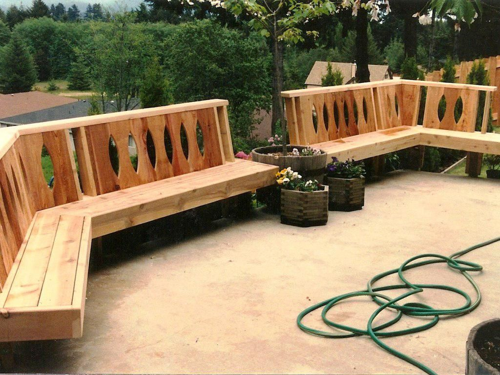 Image of: Deck Bench Seating