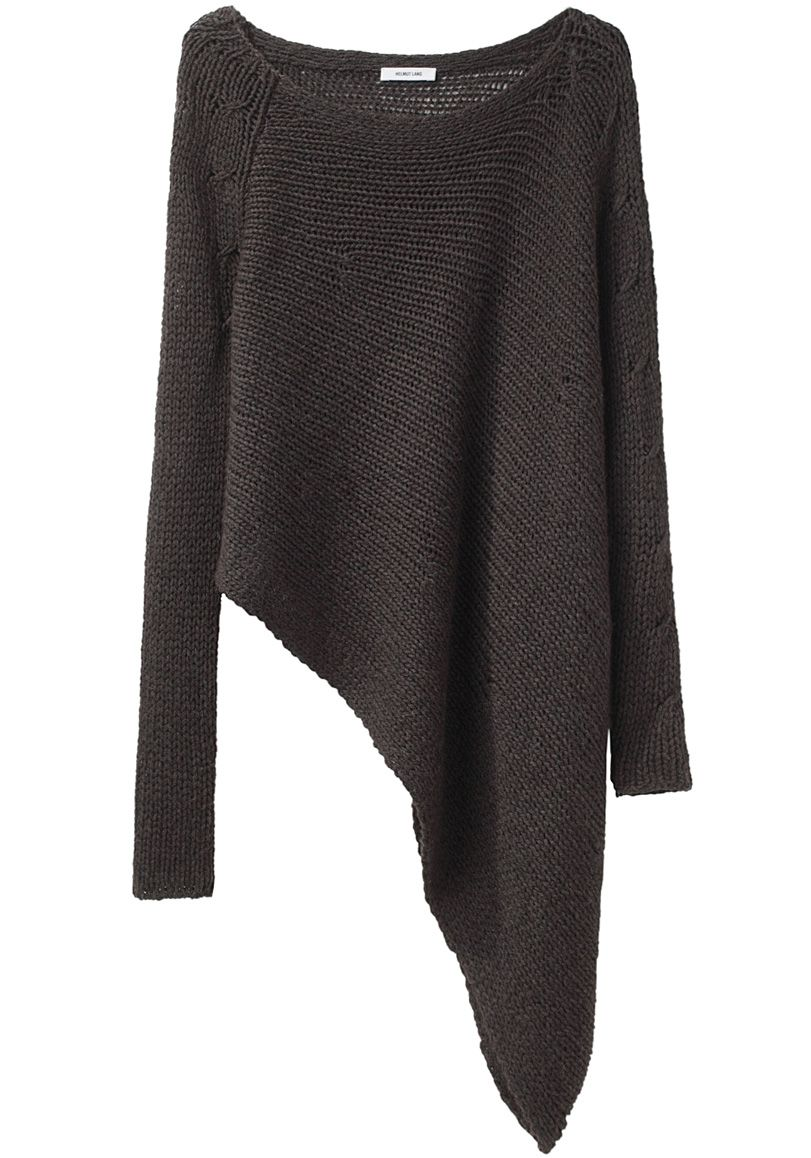 helmut lang asymmetric hem pullover great with tights. Black Bedroom Furniture Sets. Home Design Ideas
