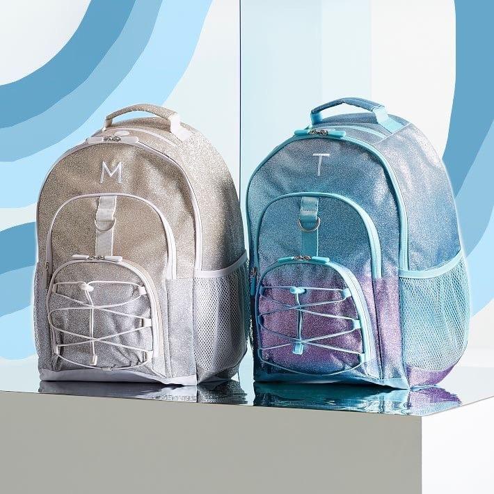 Gear Up Purple Pool Ombre Glitter Backpack Backpacks