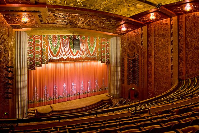 Balcony View Vintage Movie Theater Paramount Theater Stage Set
