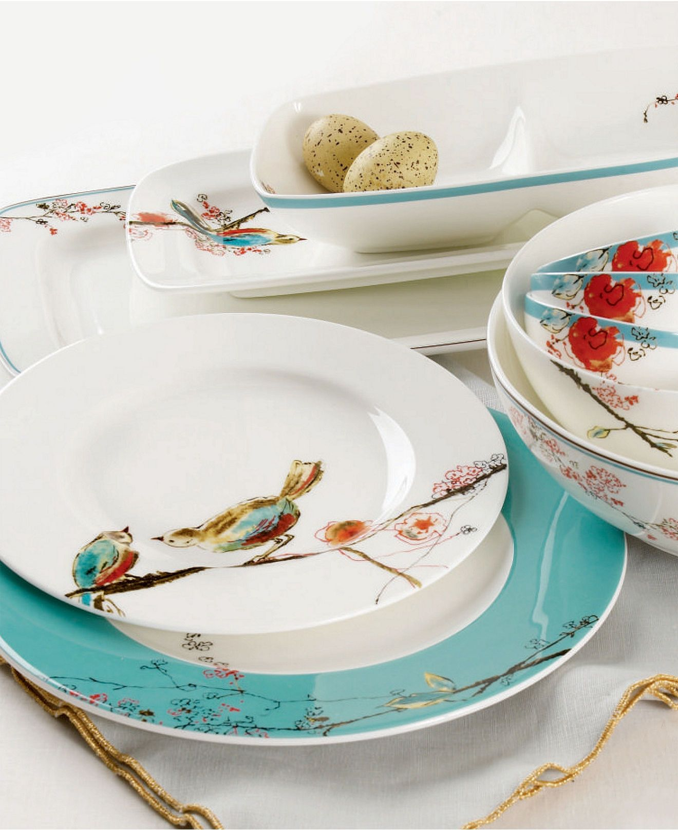 Lenox Chirp dinner ware and linens & Lenox Simply Fine Chirp Collection | Dinner sets Dinner ware and ...