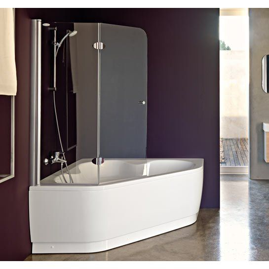 Vasca angolare con sportello bathroom pinterest for Pinterest bagni