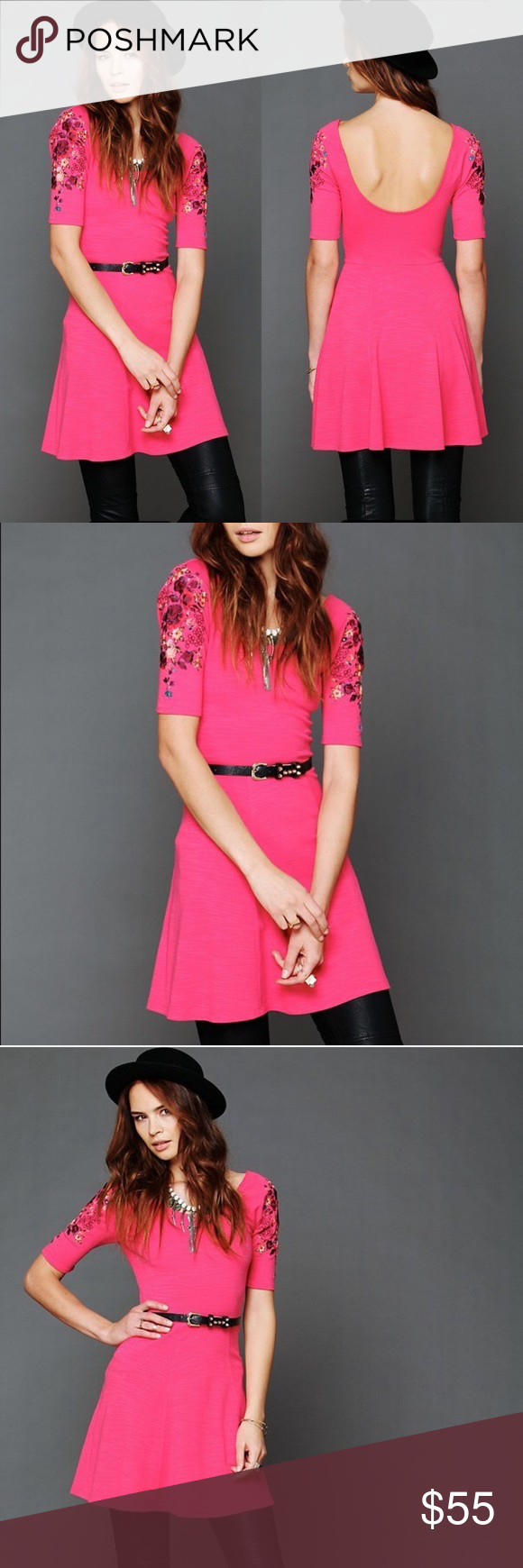 Johnny was long sleeve eyelet tunic in pink blush save 63 lyst - Free People Pink Garden Sleeve Dress