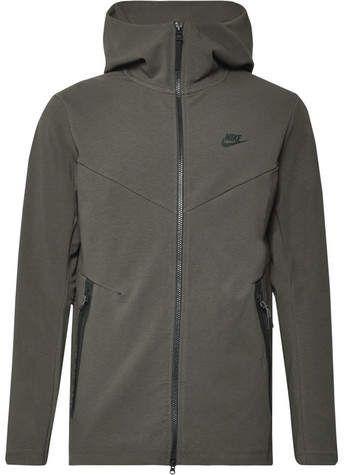 3faf3195b813 Nike Sportswear Slim-Fit Cotton-Blend Tech Fleece Zip-Up Hoodie ...