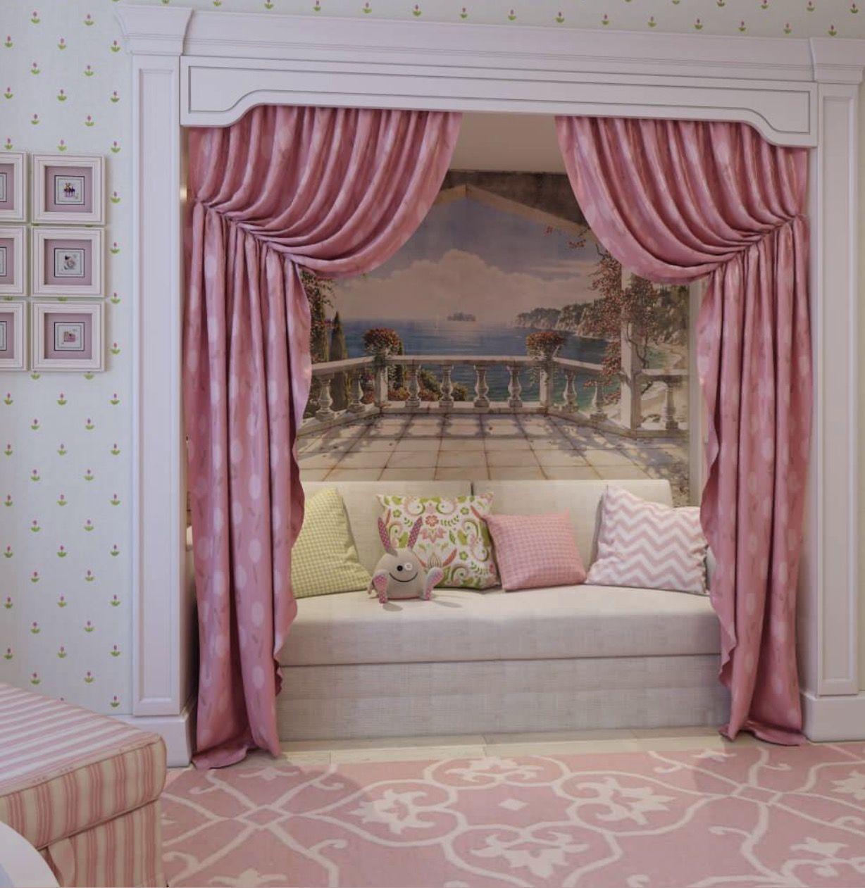 Girls bedroom/bonus room Reading nook closet, Barbie