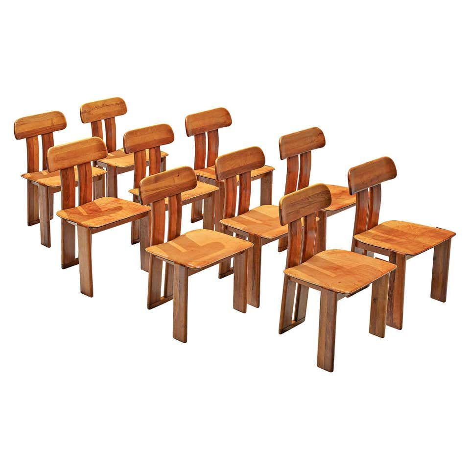 Italian Set Of Ten Dining Chairs By Sapporo 1970s In 2020 Dining Chairs Vintage Dining Chairs Sculptural Chair
