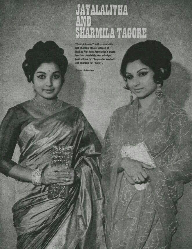 Retro Actress Late Jailalitha  and Sharmila Tagore.