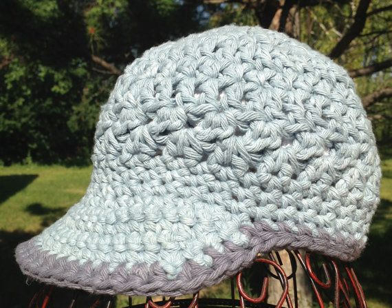 Chunky Cotton Crochet Newsboy Hat by SeamMonkey on Etsy, $32.00 ...