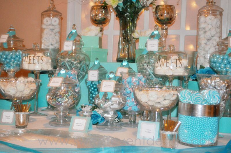 Tiffany and co baby shower theme baby shower pinterest for Decoraciones para postres