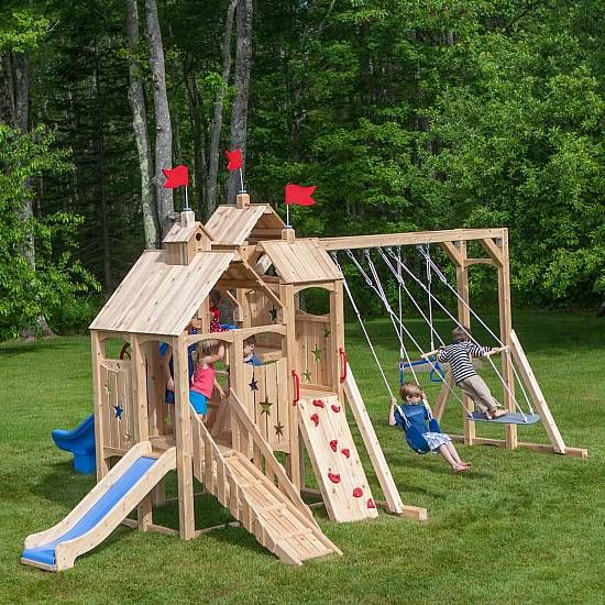 Wood Swing Sets Playhouses Toys And Furniture Playset Outdoor Toddler Swing Set Swing Set