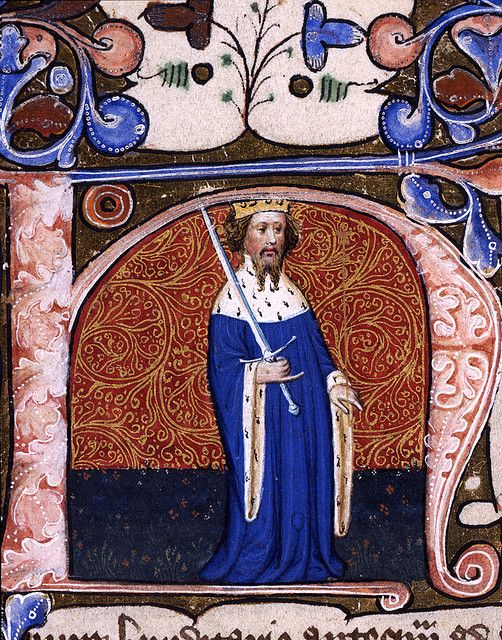 Illuminated initial letter showing Henry IV from the records of the Duchy of Lancaster. Before his usurpation of Richard II in 1399, Henry was Duke of Lancaster. Date: c.1402. TNA Catalogue Reference: DL 42/1