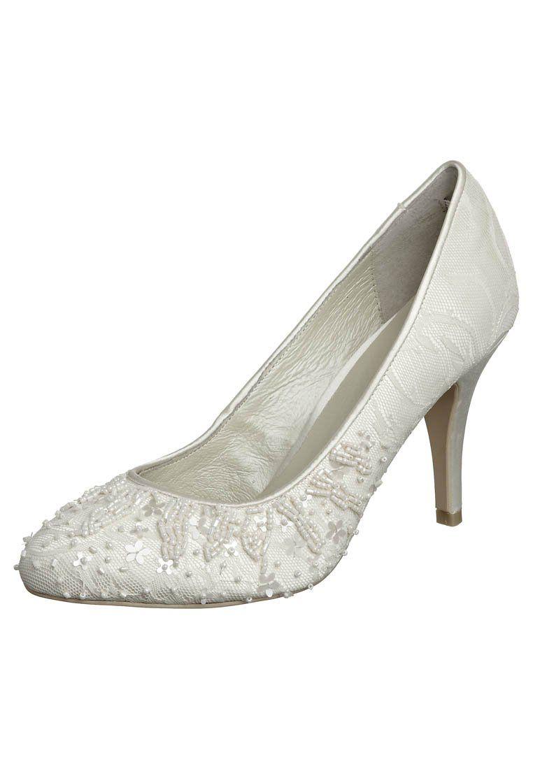 Boda Blancos Menbur perlas blanco Clasicos Tacones Tacones Zapatos bordado De Perlas qXX81gwO
