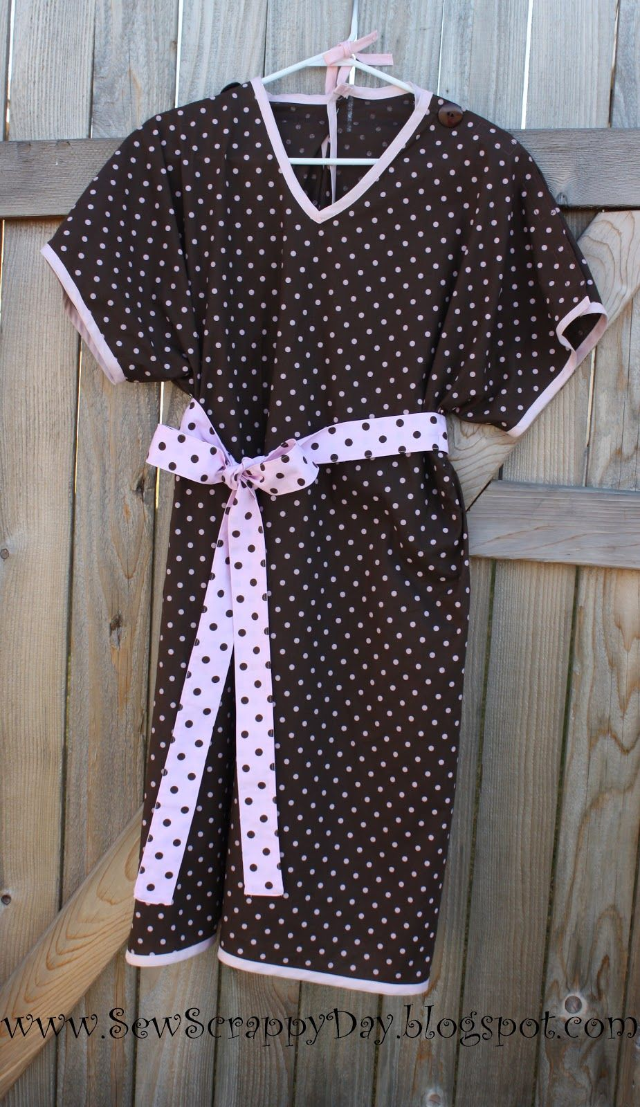 Sew Scrappy Day: Homemade Hospital Gown using Free Lazy Girl Designs ...