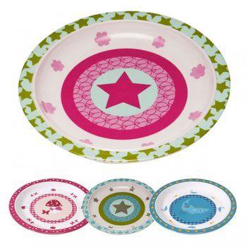 Lassig 4kids Dish Plate Melamine Selectable Variant Plates Decorative Plates Tableware