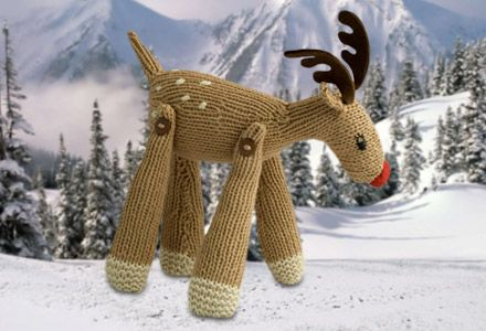 Free Knit A Reindeer Knitting Pattern Gifts Pinterest Knitting