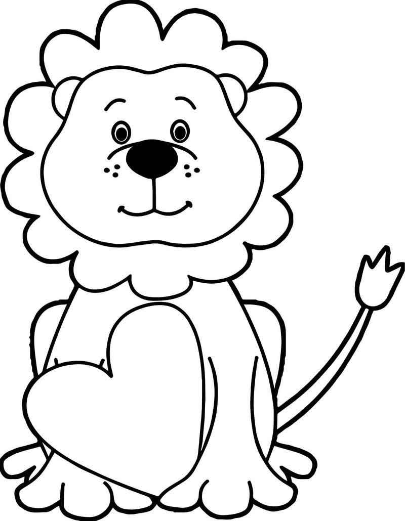 Heart Lion Coloring Page In 2020 Lion Coloring Pages Coloring Pages Lion Images