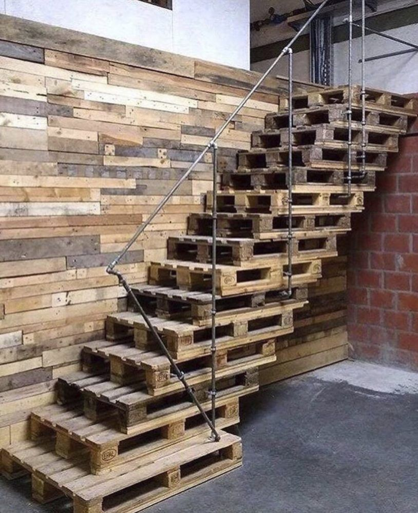 12 Diy Old Pallet Stairs Ideas: Sunday Morning Comics: Pallet Staircase