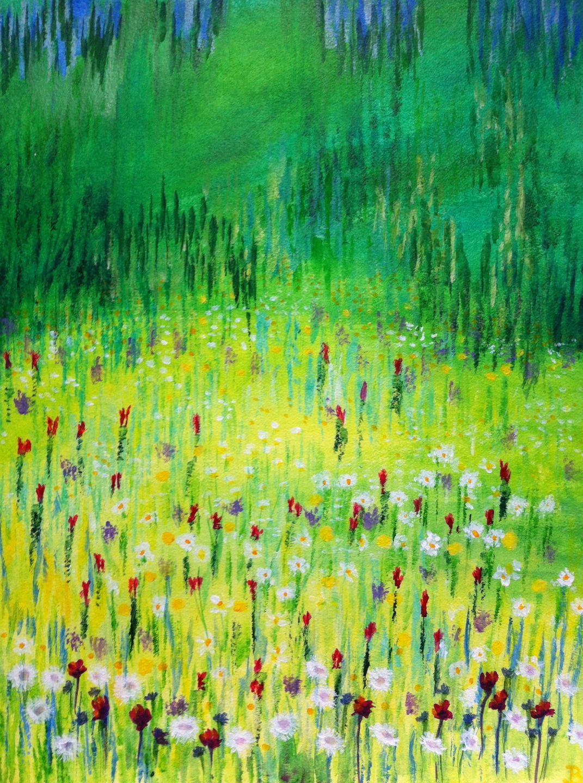Peinture Moderne Paysage Nature At Lumeline Bll Théâtre De Verdure