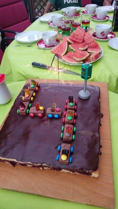 Schoko Auto Kindergeburtstag Kinder Kuchen Kuchen Und Kuchen