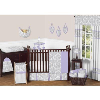 Sweet Jojo Designs Elizabeth 11 Piece Crib Bedding Set In Lavender Grey Grey Multi Crib Bedding Sets Cribs Crib Bedding