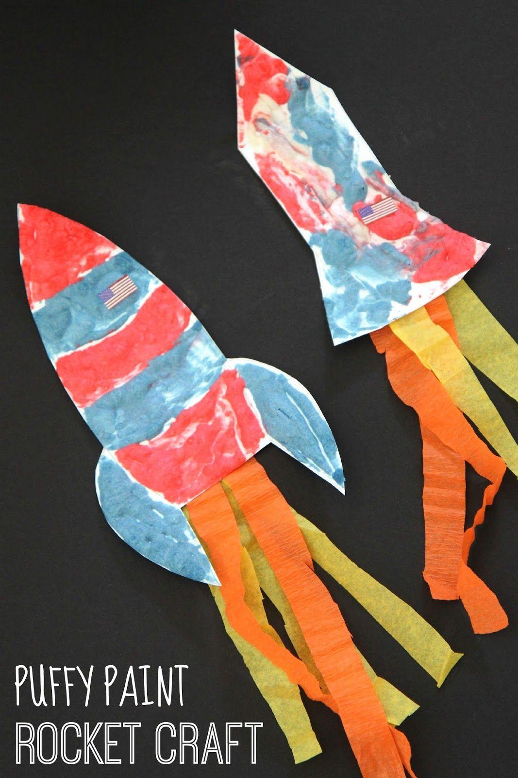 Puffy Paint Rocket Craft