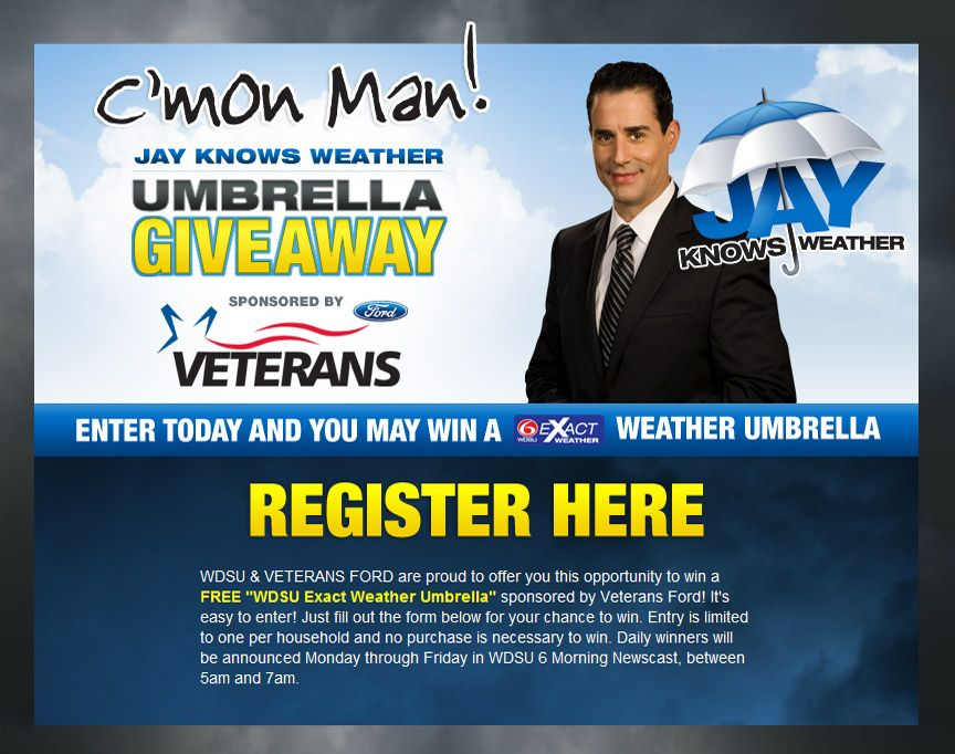 Register here for a chance to win an awesome Weather