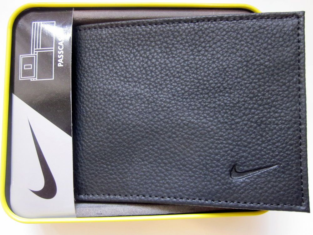 c82d34ecfb WALLET BIFOLD NIKE GOLF MEN'S GENUINE BLACK LEATHER CREDIT CARD PASSCASE # Nike #Bifold
