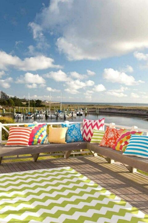 Bright Patio Pillows Love To Mix And Match Them For The Home