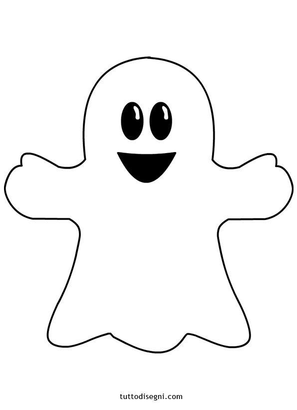 Disegni Halloween - Fantasmino - TuttoDisegni.com #halloweencraftsfortoddlers