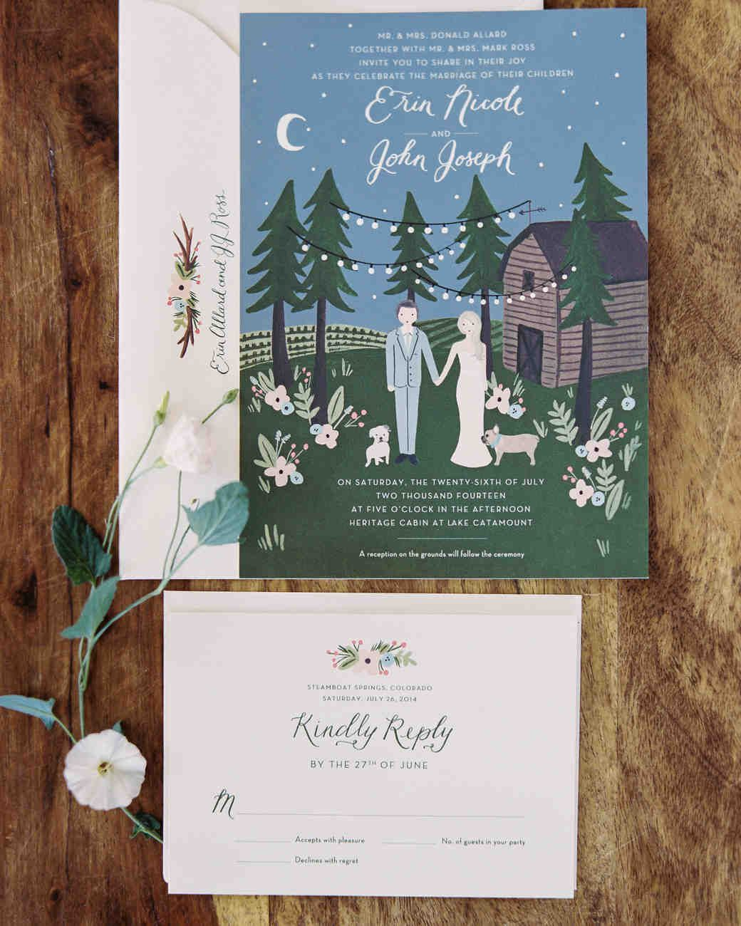 Present natureinspired wedding stationery with a botanical touch