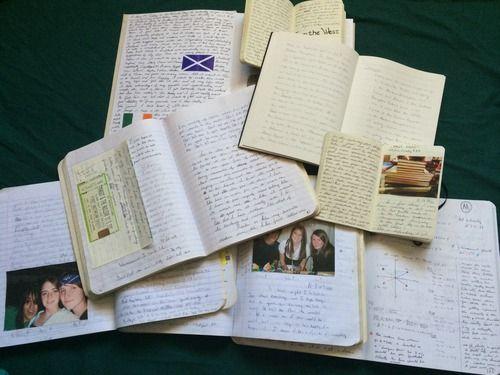 Peek Inside a Journal - writing and photos