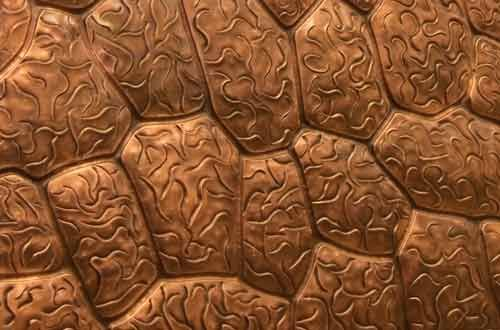 Copper Rock Pattern And Tropical Scene Copper Wall Art By Rutland