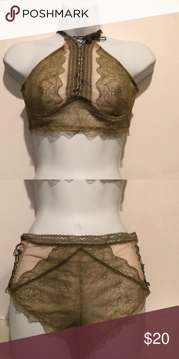 19750e63c79a0 Bralette and Pantie Set Victoria Secret Khaki Green Bralette and Pantie Set  Medium Victoria s Secret Intimates   Sleepwear Bras